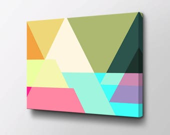 Abstract Art - Canvas Wall Decor - Modern Wall Art - Original design by Epik - Mid Century Modern - Juxtaposed