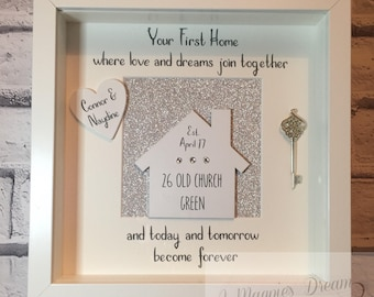 Personalised New home frame - New home Gift - Moving in present - first home