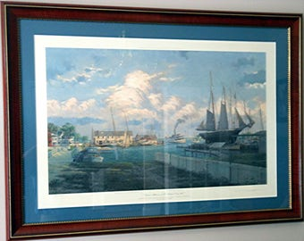 Summer Afternoon at St. Michael's, Circa 1907 by John M. Barber, matted & framed