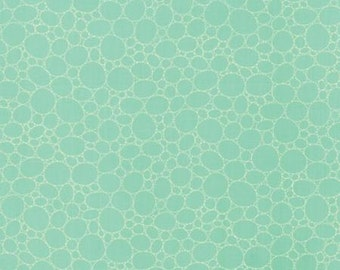 The Sweet Life Aqua Sky Floral Pebbles Turquoise > by Pat Sloan for Moda Fabrics < Half Yard off the Bolt
