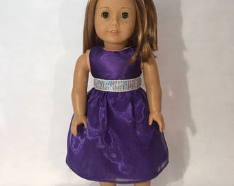 """18"""" doll party dress (fits American Girl Dolls)"""