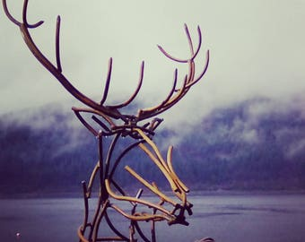 Life size stag sculpture
