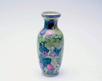 Vintage Oriental vase, floral vase, Chinese vase, ceramic vase, decorative vase, home decor, vase, Oriental vase, vase, Christmas gift, gift