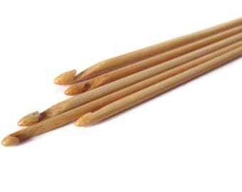Bamboo Crochet Hook - Size 6, 6.5, 7, 8, 9, 10 - Wood Crochet Hook - Natural Crochet Hook - Bamboo Hooks - Crochet Tool s