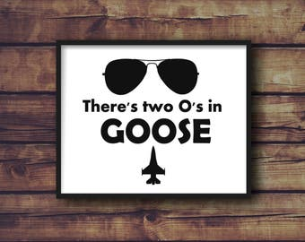 Top Gun Goose Silhouette File