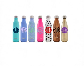 S'well Decal // S'well Bottle Monogram // Monogram Decal // Vinyl Sticker // Vinyl Decal // Free Shipping // Wonderfully Made Creations