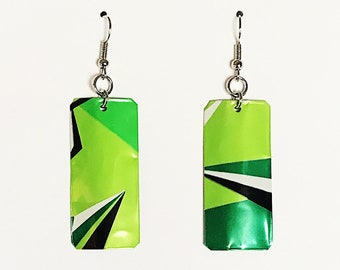 Recycled Mt. Dew Can Earrings