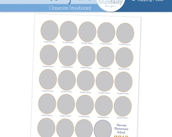 8x10 Classroom Storyboard Circles  (Class Size 24) - Photographer Resources