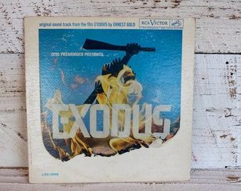 Vintage Musical Soundtrack Original Film Exodus by Ernest Gold RCA Victor Vinyl Gift for Music Lovers Gifts Music Lover For Him For Her USA