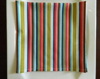 Stripe Napkins, Set of 4. Multi-color Stripes. Every Day Napkins. Modern Napkins.
