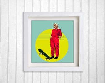 Skate Print– Sports Print – living room décor – Home décor – Home and Living – drawing – workspace décor – office decor