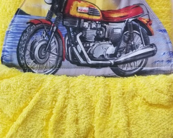 Hanging Double Hand Towel-Motorcycle