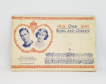 Vintage W.D. & H.O. WILLS Our Kings and Queens Cigarette Card Album