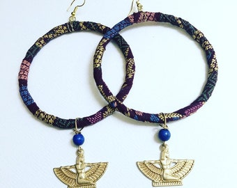 Hoops with goddess Isis