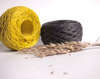 Natural Linen Yarn, High Quality, Linen Yarn For Crochet, Knitting, 200 g/ 7 oz