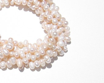 Pale Pink Freshwater Pearls, Pink Seed Pearls,  4-5mm, Full Strand