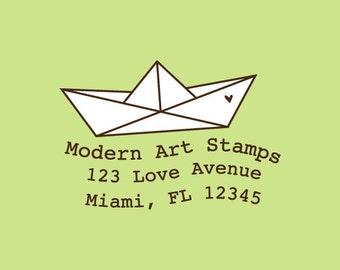 Custom Rubber Stamp   Custom Stamp   Return Address Stamp   Custom Address Stamp   Personalized Stamp   Boat Stamp   C388