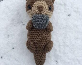 Emmet the Otter- Crocheted Amigurumi Otter-Stuffed Animal Toy