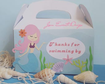 Mermaid party favors boxes