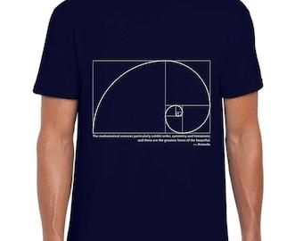 Fibonacci Spiral and Aristotle t-shirt