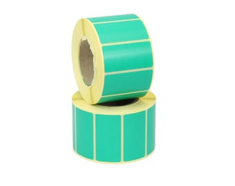 50mm x 25mm Green Thermal Transfer labels. 25mm core, 1k Roll, Free Postage. Ideal for Craft, Scrapbooking, Address labels, Product labels.