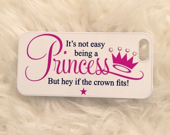 Its not easy being a princess swarovski crystal phone case