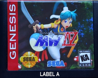 Monster World IV - SEGA Genesis Reproduction