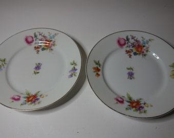 Rosenthal floral side plates