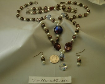 Necklace, Earrings & Bracelet Set - 0702