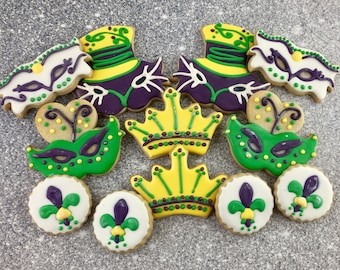 Mardi Gras Cookies, Mask, Party, Celebration