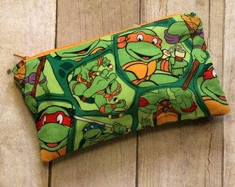 TMNT Extra Small Wet Bag, Cloth Pad Wet Bag, Reusable Waterproof Bag, Beach Bag, Pool Bag, Makeup Bag, Wet Bag, Turtle Wet Bag, Turtle Bag