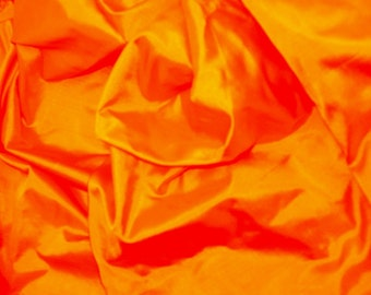 Fine Indian Silk Taffeta in Yellow-Orange fat quarter  -TF 7