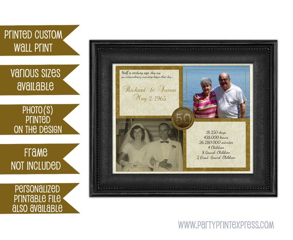 50th Wedding Anniversary Traditional Gifts: 50th Anniversary Gift Gold 50th Wedding Anniversary
