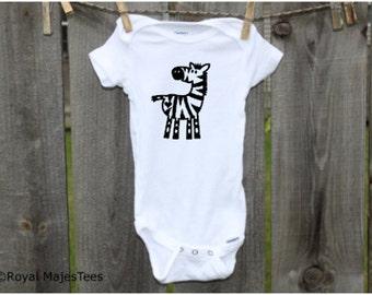Zebra Onesies®, Safari Baby Shower