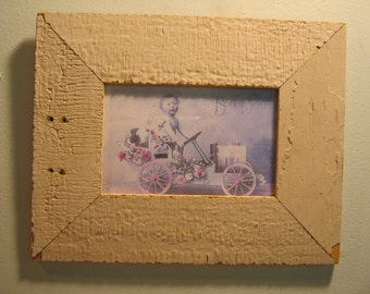 SHABBY ARCHITECTURAL Chic Salvaged Recycled Wood Photo Picture Frame 4x6 S 408-12