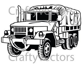 REO Army Truck Vector File SVG