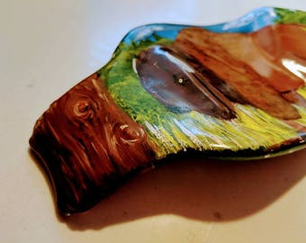 Recycled Glass Spoonrest - Bison