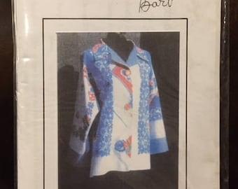 Tablecloth Jacket by Barb Callahan - Sizes P-S 6-10, M-L 12-16, XL 18-20 - Paper Pattern