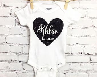 Personalized Name Baby Onesie - Customize It - Baby Gift Idea - Baby Bodysuit