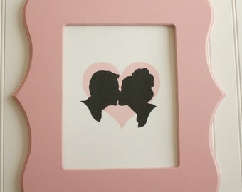 Custom Silhouette Couple Print made from YOUR PHOTO by Simply Silhouettes