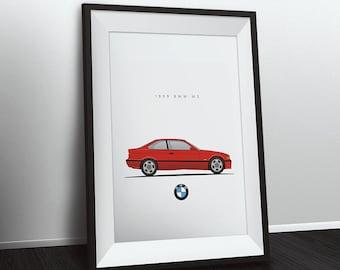 1999 BMW M3 E36 - 8.5x11 inch unframed color print