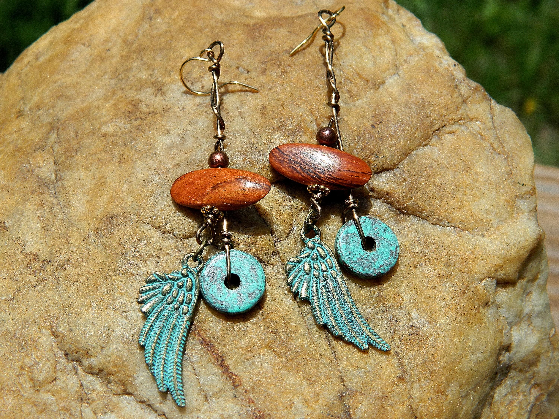 Angel Wings and Bayong Wood Beads