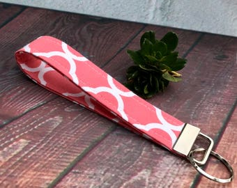 fabric key fob, key chain, wristlet, stocking stuffer, Gift