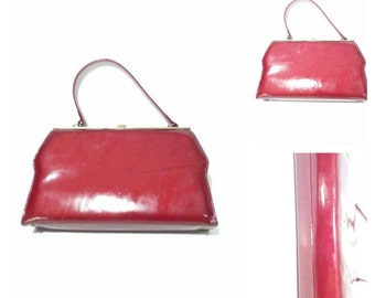 Vintage Candy Apple Red Handbag