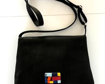 Bzero bag black leather shoulder bag L05