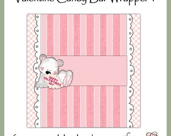 Valentine Candy Bar Wrapper 1 - digital printable- immediate download