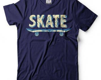 Skateboard T-shirt Skating T-shirt Skateboarder Tee Shirt Sports Activity Tee shirt