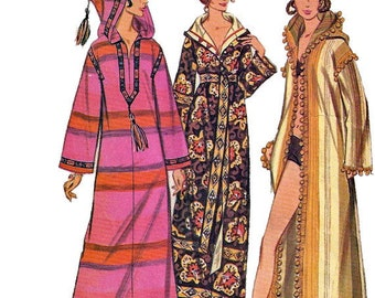 McCalls 2377 1970s Quickie Misses  Moraccan BURNOOSE Pattern Easy Womens Vintage Sewing Pattern Size Medium Bust 32 34 UNCUT