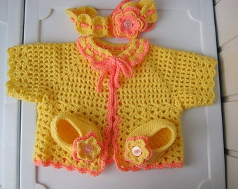 Children's clothing, Baby outfit, Baby gift, Children's handmade crocheted garments, Baby knitted clothes.Baby set 3 - 12 months.