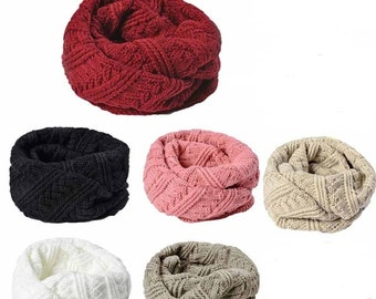 Woolen Snood/twisted Choker (6 colors)